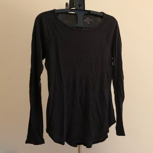 Athleta black long sleeve cotton shirt